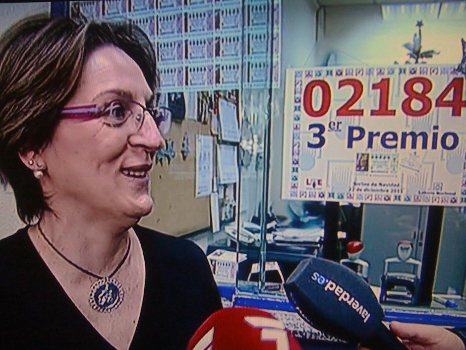Lucía Cantero, propietaria de la Adm. Nº4 de Molina de Segura